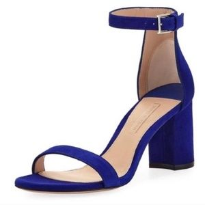Stuart Weitzman 75 Less Nudist Suede Pumps Blue